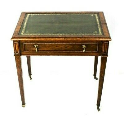 Antique Victorian Oak Writing Table [5522]