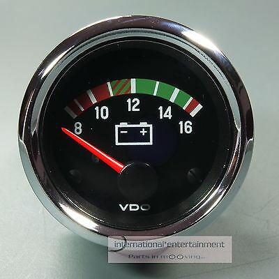 VDO VOLTMETER  INSTRUMENT * CHROME EDITION * GAUGE 12V  52mm Cockpit int.