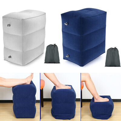 Inflatable Travel Foot Rest Pillow Kids Airplane Bed Sleep Leg Pillow Cover