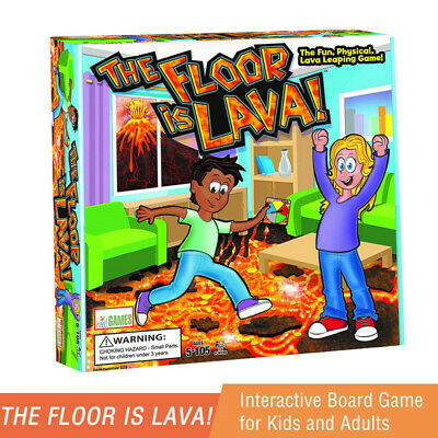 The Floor is Lava! Interactive Board Game for Kids and Adults (Ages 5+) Fun UK+