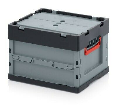 Professional - Tank Collapse 40x30x27 with Lid Plastic Box Stackable Foldable
