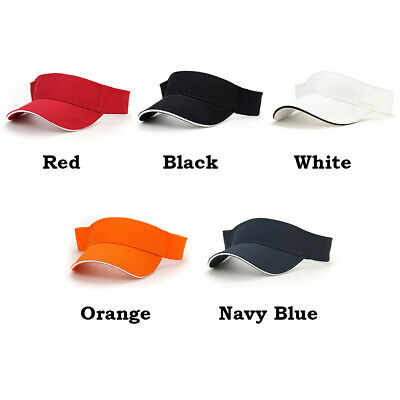 Adjustable Men Women Visor Sun Plain Hat Sports Cap Golf Tennis Beach Sports
