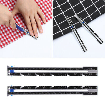 Patchwork Quilting Tailor Ruler Measuring Gauge Seam Ruler Sewing Accessories