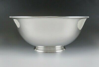 """Antique c1920 Arthur Stone Sterling Silver American Colonial Style Bowl 9.5"""""""