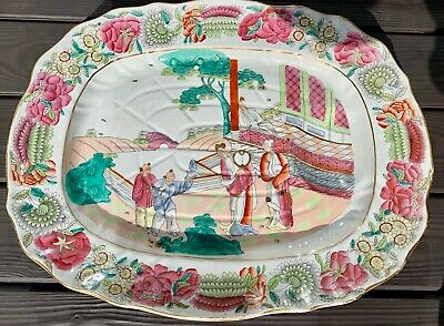 Large Fine Antique Staffordshire Pottery Meat Platter circa 1850