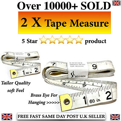 Tailor Seamstress Sewing Diet Cloth Ruler Tape Measure Brass Ends