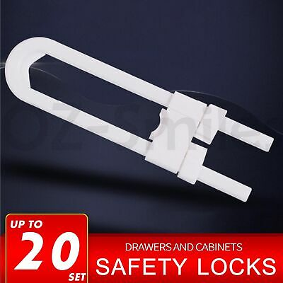 Baby Safety Lock Child Kids U-shaped Drawer Door Cabinet Cupboard Lock