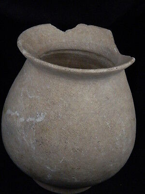 Ancient Large Size White Marble Pot Bactrian 300 BC #STN15122