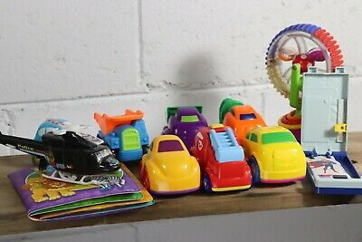 Child Baby Toy Lot of 11 Good Conditioned Cars Vehicles Trucks & More Toddler G7