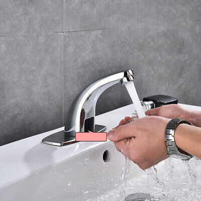 1Pc Professional Durable One Hole Practical Automatic Sensor Faucet for Bathroom