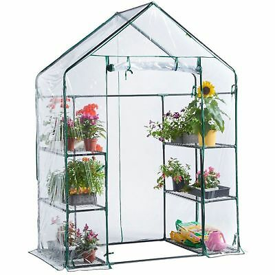 Outdoor Plastic Mini Walk In Greenhouse Garden Plants Flowers PVC Cover Small