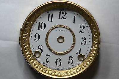 Antique Seth Thomas Dial Bezel Glass For Movement 3 5/8 And With  4 Screws