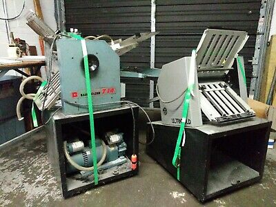 Baum 714 Air Feed Folder with 8 page right angle