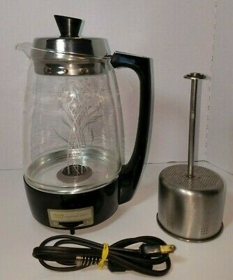 Vintage Proctor Silex Starflite 70503 Electric Glass Coffee Percolator 5-11 Cup