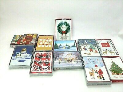 New Boxed Christmas Cards 16 Count
