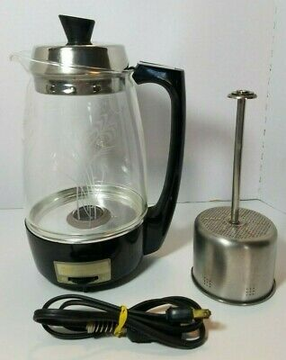 Vintage Starlite Proctor Silex 70503 Electric Glass Coffee Percolator 5-11 Cup