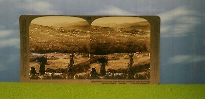 Vintage Stereoview Card - #61 Hill Of Samaria - Palestine - Farmers -Middle East