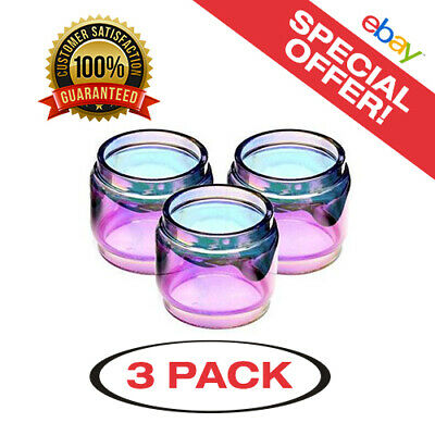 3 Pack of Prince 8ml Rainbow Extended Replacement Glass - Same Day USA Shipping!