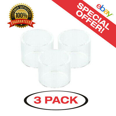 3 Pack of Crown 2 4ml Straight Replacement Glass - Same Day USA Shipping!