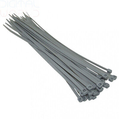 Kafton Silver/Grey Cable Ties 140mm 200mm 300mm - High Quality 370mm x 7.6mm