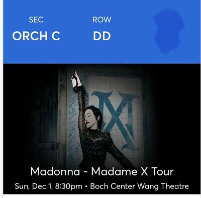 Deal: Pair Of Madonna Madame X Tour tickets: Boston, 12/1 Excellent Orchestra