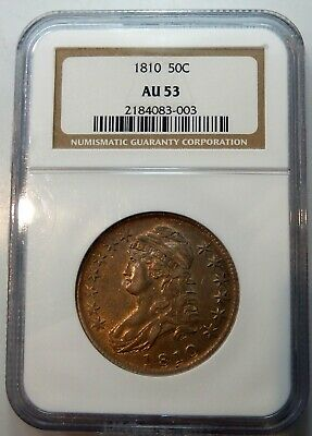 1810 Capped Bust Half Dollar - NGC Certified AU 53 !!