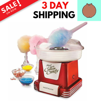 Nostalgia Retro Hard & Sugar Free Cotton Candy Machine Maker Great For Parties