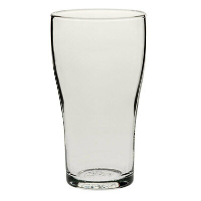 48x Crown Commercial Conical Nucleated Beer Glass 425mL Schooner Craft Draught