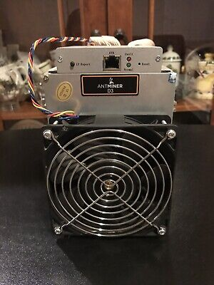 Bitmain Antminer D3 Dash Miner 19.3 GH/s - USA Seller no power supply