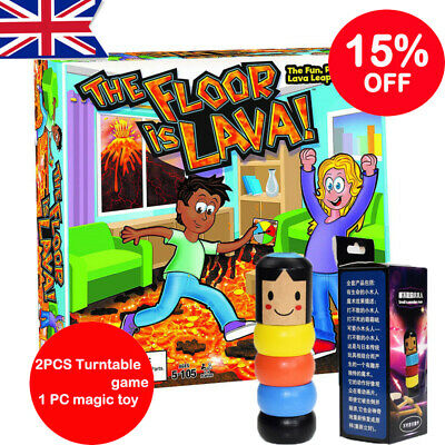 The Floor is Lava! Interactive Board Game for Kids and Adults (Ages 5+) Fun HOT