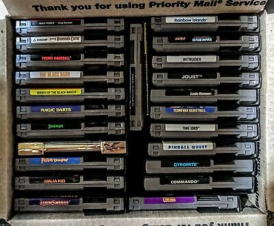 23 NES Nintendo Games Lot Discounted w/ dust Covers & One FREE Manual