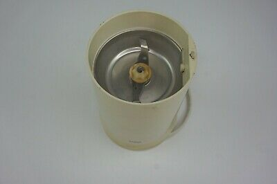 Braun Aromatic Touch Coffee Mill Grinder Base w Blade Part Only 4041, Cream Whit