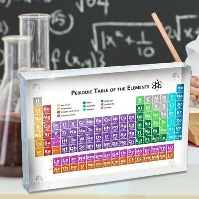Acrylic Periodic Table Of Elements Table Display, with Elements Kids Teachi A3R2