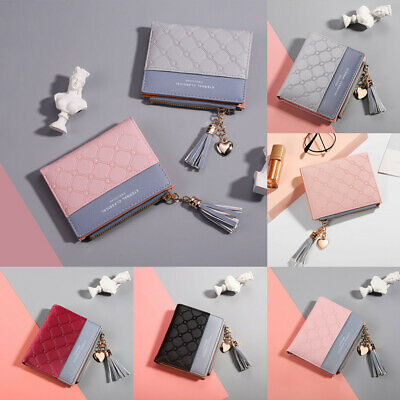 Women Clutch Leather Wallet Card Holder Bag Case Short Bifold Coin Purse Handbag