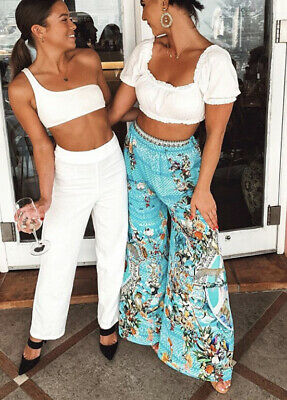 New £560 Camilla Franks Wide Leg Trousers Pants M Uk 10 12 Girl From St Tropez
