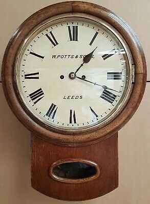 Rare late 1800s high quality double fusee striking clock by Potts of Leeds - GWO