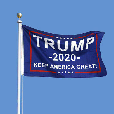 3x5ft Donald Trump 2020 Flag BLUE Keep America Great Flags Banner Wholesale USA