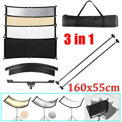 160*55cm U-type 3 in 1 Collapsible Photo Reflector For Studio Photography Light
