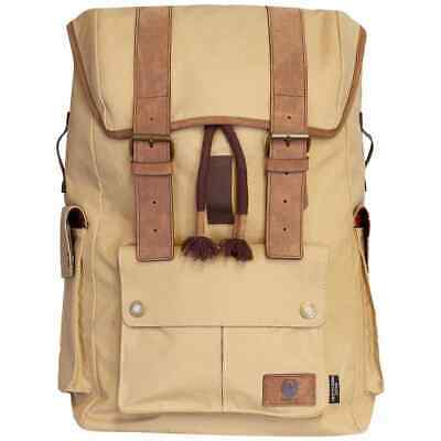 Merlin Ashby Classic Waxed Cotton Rucksack - Sand