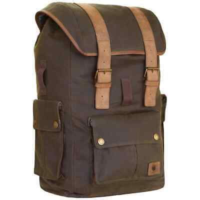 Merlin Ashby Classic Waxed Cotton Rucksack - Olive