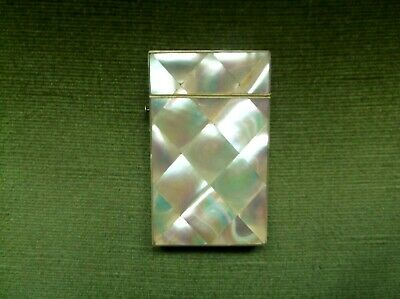 Fine Antique 19Th Century Superb Ladies Mother Of Pearl Visiting Card Case