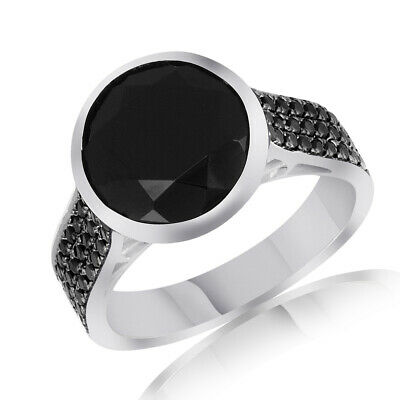 Spinel Solitaire With Accent Band Ring 14k White Gold Over 925 Sterling Silver