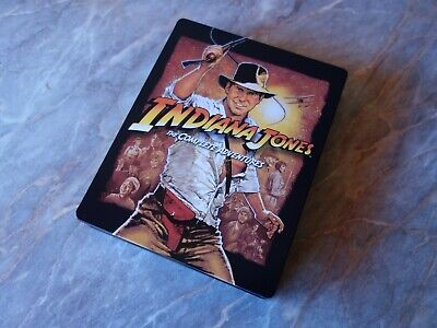 Indiana Jones The Complete Adventures Blu-ray STEELBOOK (5 Disc) TEILE 1-4 Ford