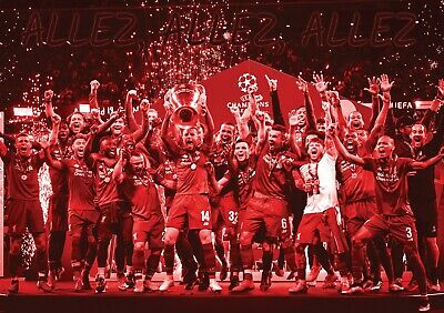 Liverpool FC - Champions League Winners 2019 - large A2 Gloss poster Salah Klopp