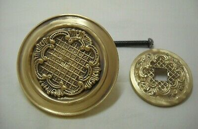 Vintage Greece Solid Brass Large Ornate Door Knob Handle Push/Pull #32