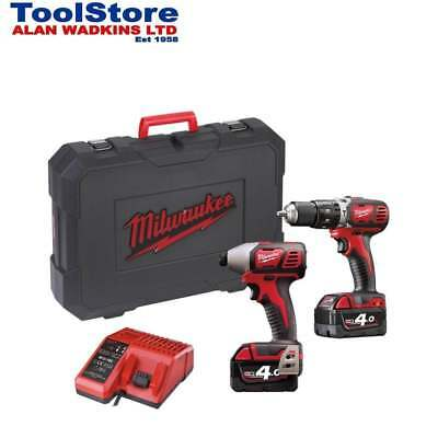 Milwaukee 18v Twin Pack M18BPP2C-402C 2 x 4.0Ah Batteries Charger + Case