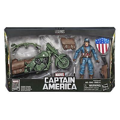 "Captain America avec moto Marvel Legends 6/"" HASBRO Action Figure BNISB"