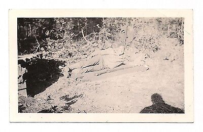 OLD VINTAGE 1941 WWII WW2 PHOTO of U.S. ARMY SOLDIER w/ BOLT ACTION RIFLE