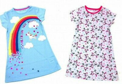 Girls UNICORN Pack of TWO Nighties 2,3,4,5,6,7,8,9,10,11,12 Years NEW