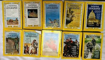 National Geographic Magazine Whole Decade 1960 60s Set Full Collection Lot 120